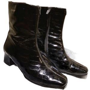 VALDINI Heels in Croc-skin Patent Leather (Size 6)